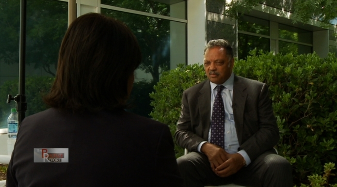 Rev. Jesse Jackson, Sr. talks to TBR's Barbara Rodgers